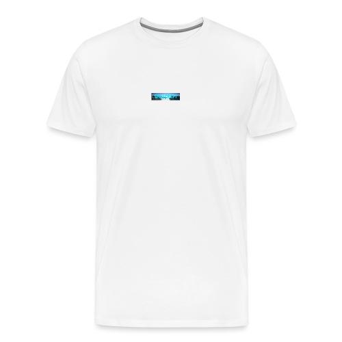 SpillCraft Logo - Premium T-skjorte for menn