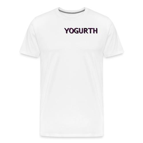 YOGURTH black 3D - Maglietta Premium da uomo
