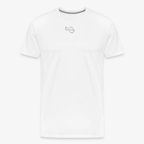Glasses logo /BLK - Premium T-skjorte for menn