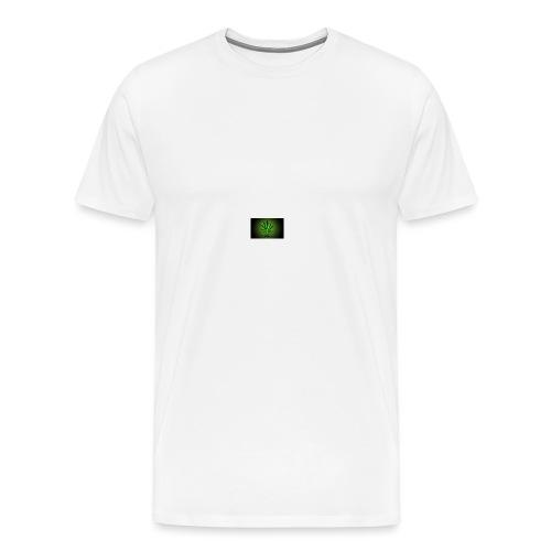 420 hash logo - Herre premium T-shirt