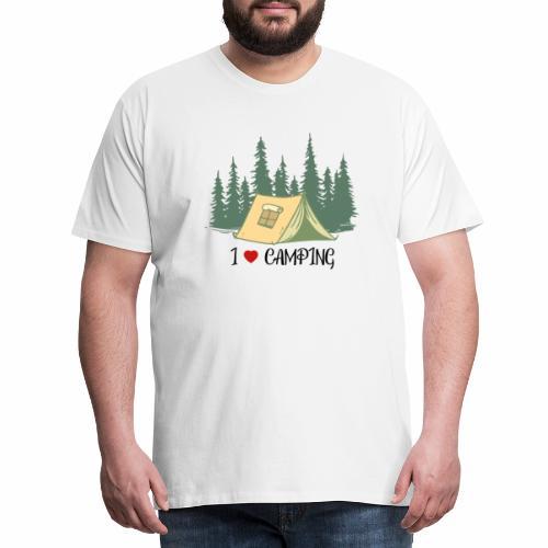 I love Camping Ich liebe Campieren Wandern - Männer Premium T-Shirt