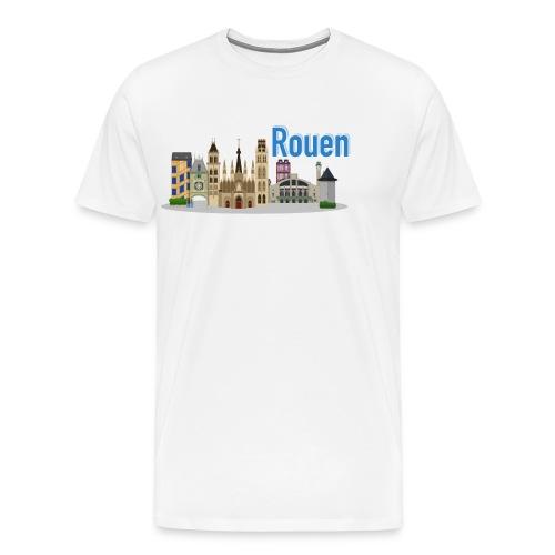 Rouen Flat Design - T-shirt Premium Homme