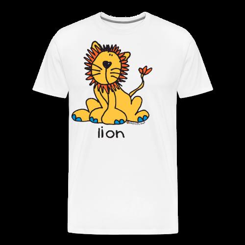 lion bang on the door - Men's Premium T-Shirt