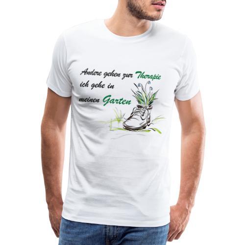 Therapie garten shirt - Männer Premium T-Shirt
