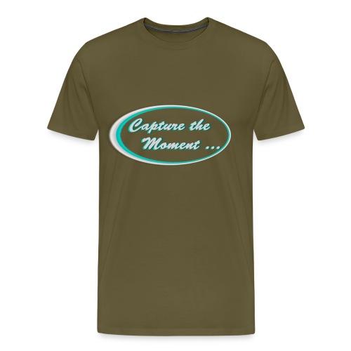 Logo capture the moment photography slogan - Men's Premium T-Shirt