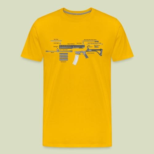 Robinson Armament XCR - Miesten premium t-paita