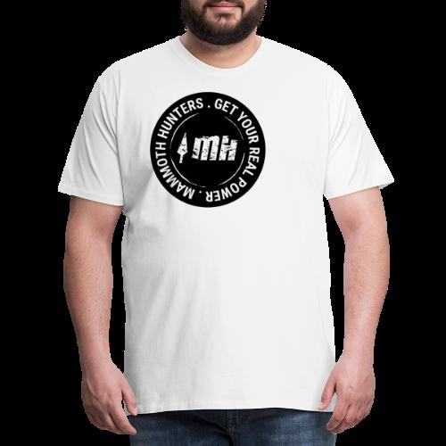 Mammoth Hunters / Círculo completo negro - Camiseta premium hombre