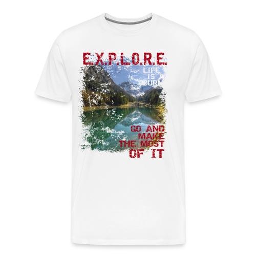 Explore - life is a journey - Männer Premium T-Shirt