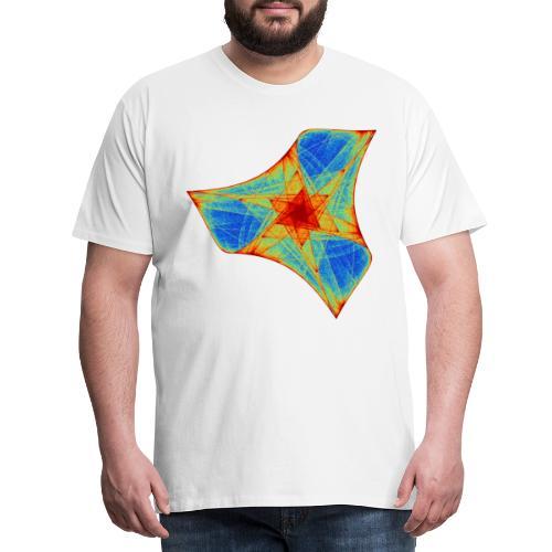 Colorful boomerang starfish sea creature 12117j - Men's Premium T-Shirt