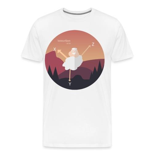 Vektorfåret - Premium-T-shirt herr