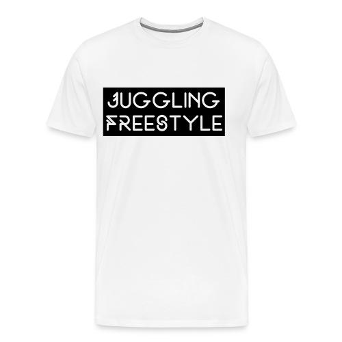 Hoodie Black Juggling Freestyle (Woman) - Männer Premium T-Shirt