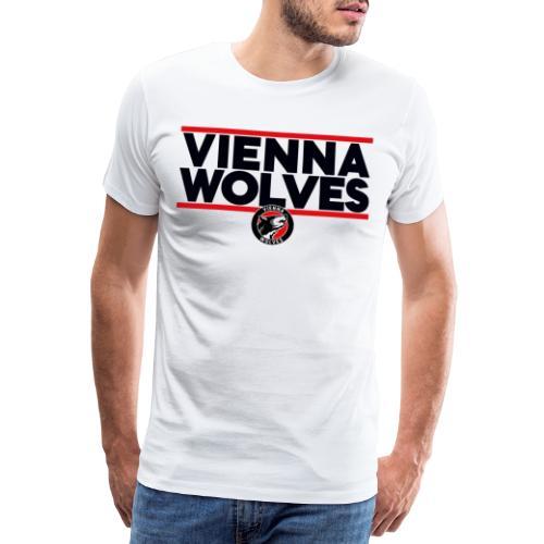 Vienna Wolves Shirt Dunkel-Rot - Männer Premium T-Shirt
