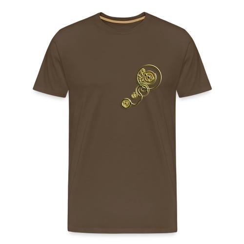 clockwork heart design image gold - Men's Premium T-Shirt