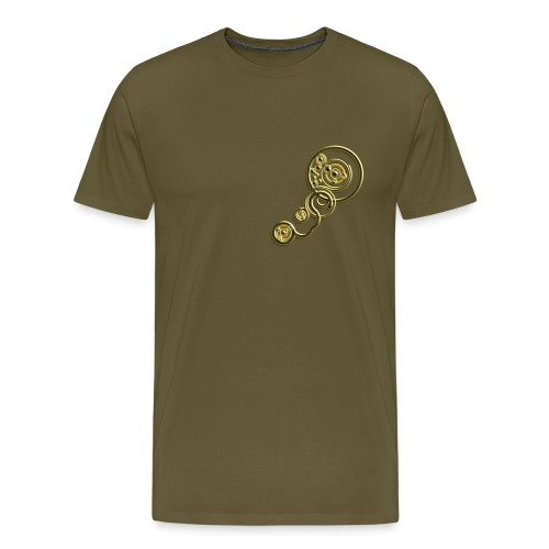 clockwork heart design image gold - Men's Premium T-Shirt
