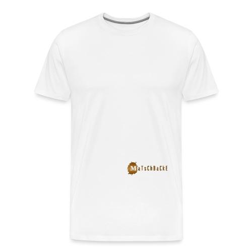 matschbackeLogo - Männer Premium T-Shirt