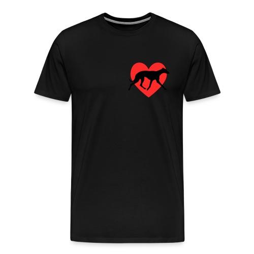 lovewhippettrot png - Men's Premium T-Shirt