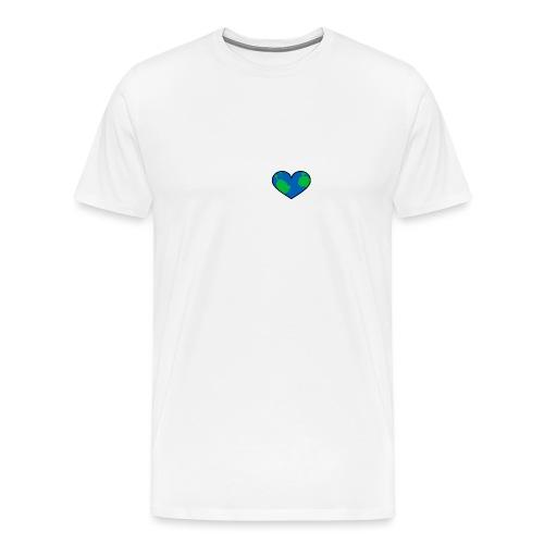 planetearth- heart - Männer Premium T-Shirt