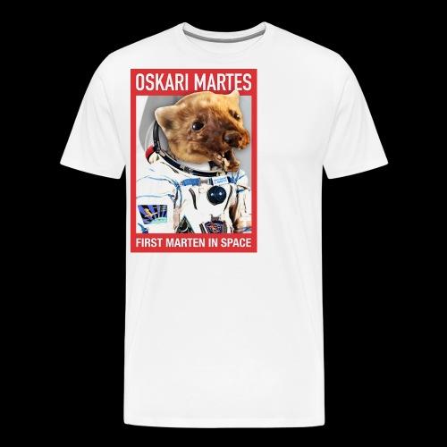 Oskari Martes, first marten in space - Miesten premium t-paita