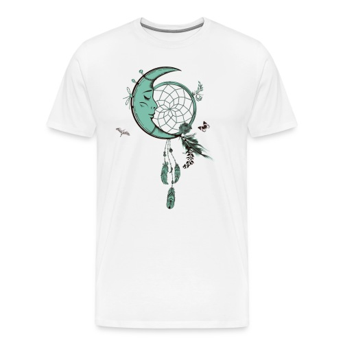 Atrapasueños con luna y plumas - Camiseta premium hombre