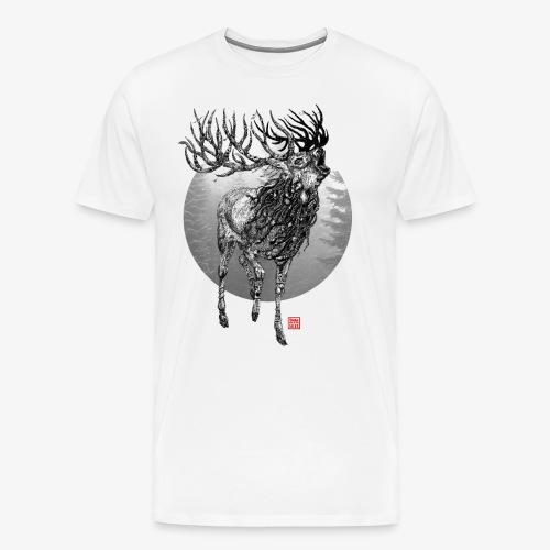 The mighty Red Deer - Männer Premium T-Shirt