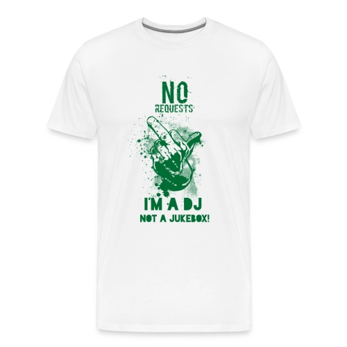 DJ no JukeBox GREEN - Men's Premium T-Shirt