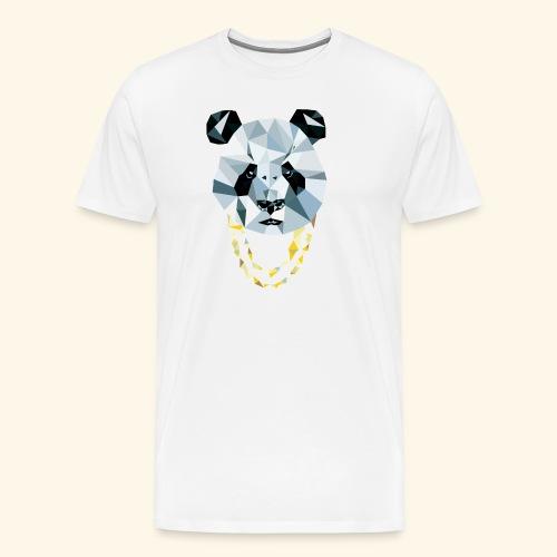 Panda 3D Polygon - Comic - Männer Premium T-Shirt