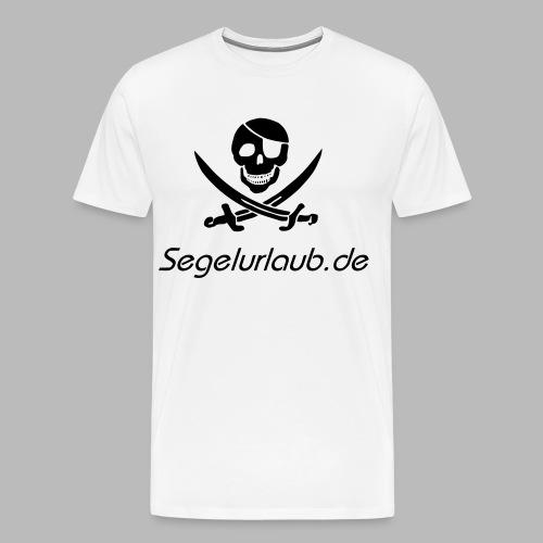 Piraten Flaggen Shirt Segelurlaub - Männer Premium T-Shirt