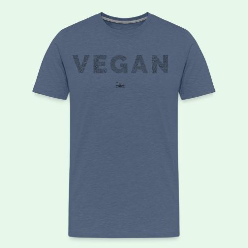 Vegan - Black - Premium-T-shirt herr