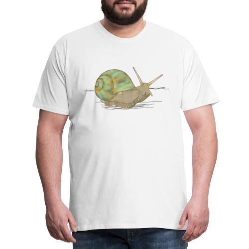 Schnecke, Weinbergschnecke - Männer Premium T-Shirt