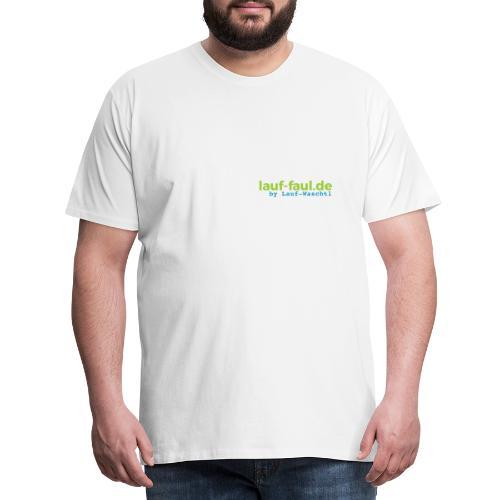 lauf-faul.de - beidseitig - Männer Premium T-Shirt