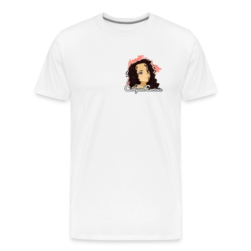 CurlyAndCurious - Maglietta Premium da uomo