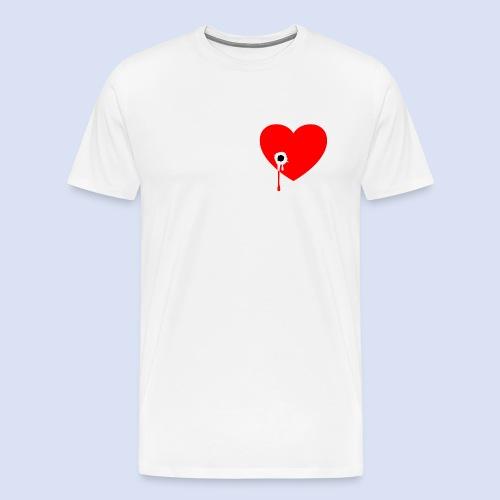 Cœur troué - T-shirt Premium Homme