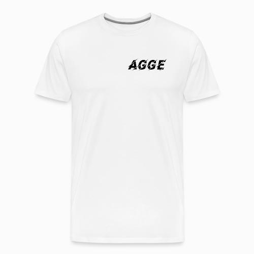 Agge - Svart Logga | Fram - Premium-T-shirt herr