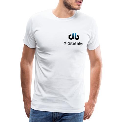 digitalbits Logo mit Schriftzug - Männer Premium T-Shirt