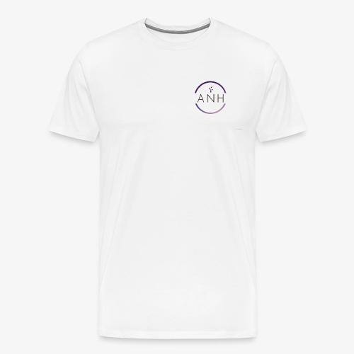 ANH purple and black logo - Men's Premium T-Shirt