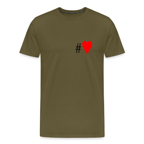 Hashtag Heart - Men's Premium T-Shirt