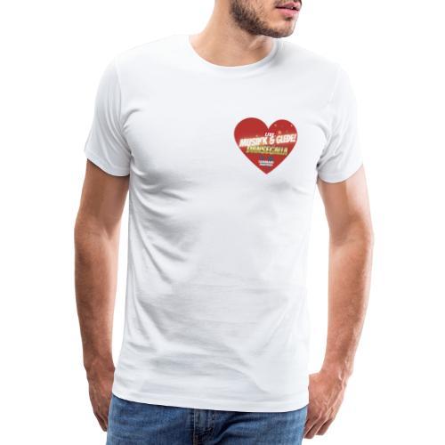 Musikk & Glede Hjertemotiv - Premium T-skjorte for menn