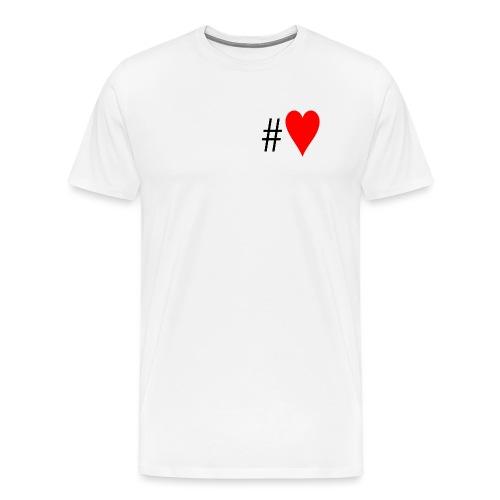 Hashtag Heart - Men's Premium T-Shirt