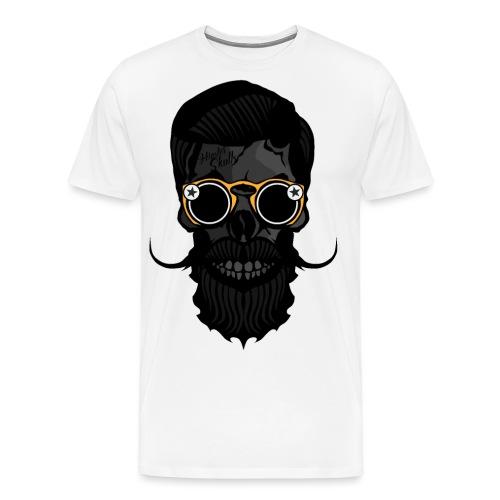 tete de mort crane skull hipster lunette de soleil - T-shirt Premium Homme