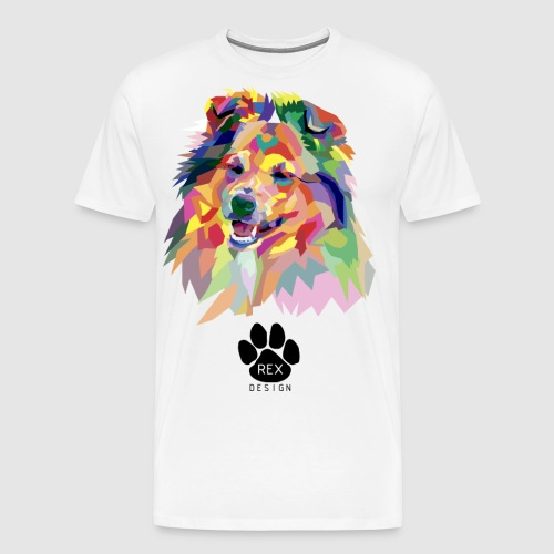 Happy Little Sheltie - Men's Premium T-Shirt