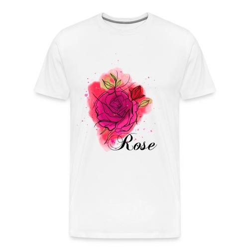Rosen T-shirt Geschenk Aquarell - Männer Premium T-Shirt