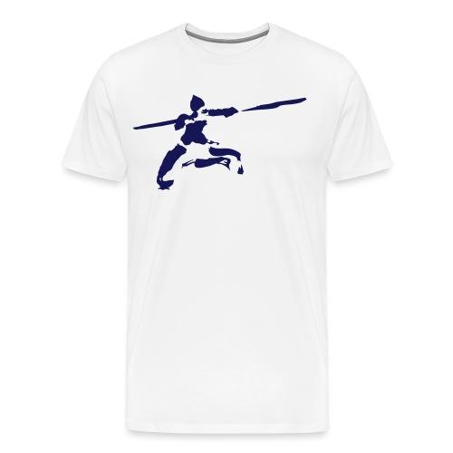 Kungfu stick fighter / ink - Men's Premium T-Shirt