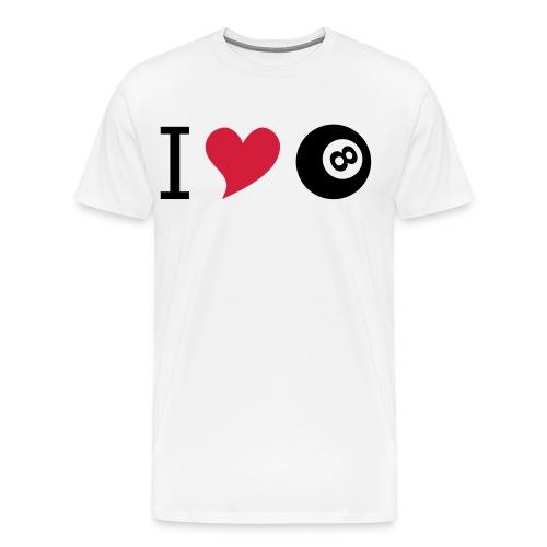I love billard - Männer Premium T-Shirt