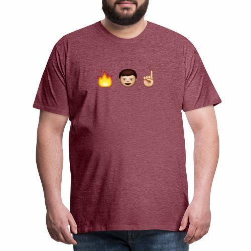 FLAMESMAN1 EMOJI - Herre premium T-shirt