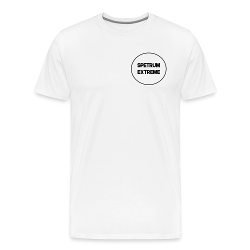 Front white Tee - Men's Premium T-Shirt