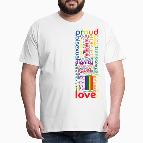 Pride Word Design - Men's Premium T-Shirt