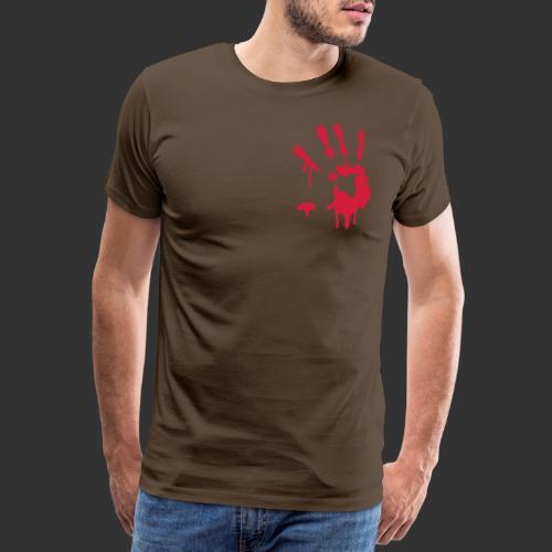 Bloody Hand Print - Premium-T-shirt herr