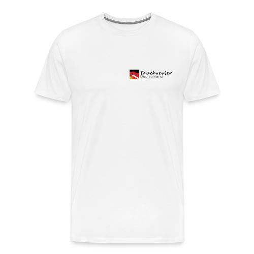 Tauchrevier Deutschland Logo classic schwarz - Männer Premium T-Shirt
