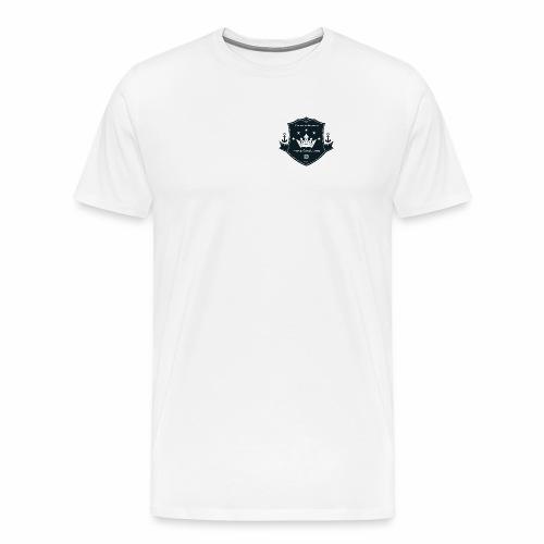 Logo on a boat com - Männer Premium T-Shirt