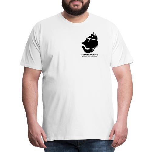 Turku Dockers MUSTA logo - Miesten premium t-paita
